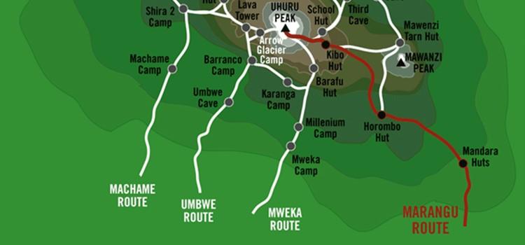 Marangu route picture
